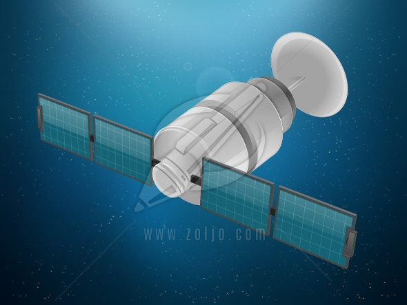 Satellite in space image