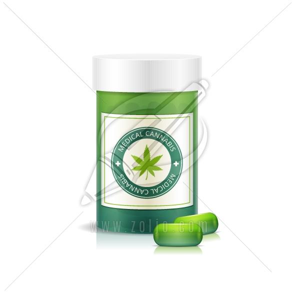 Medical Marijuana Pill Bottle