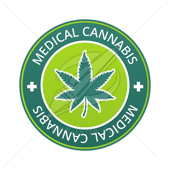 Medical Cannabis Label Vector Illustration