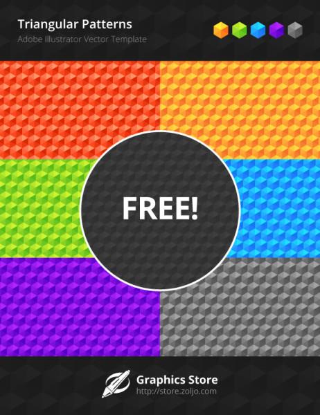 Free Vector Triangular Background Patterns