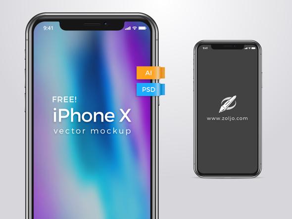 FREE VECTOR MOCKUP - iPhone X