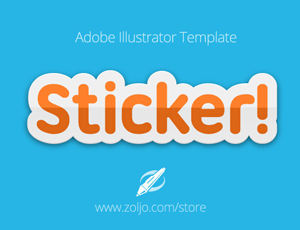 Sticker Text Template