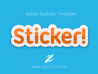 Sticker Text Template