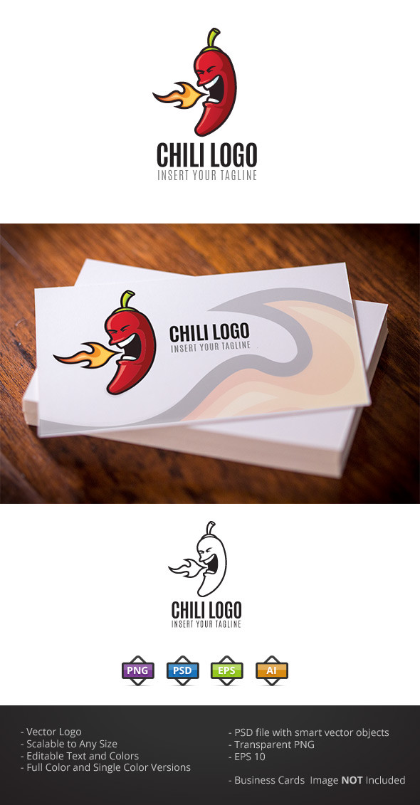 Chili Pepper Logo Template