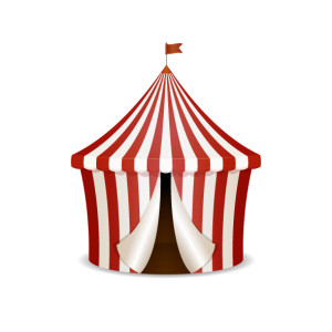 Circus tent vector illustration isolated on white