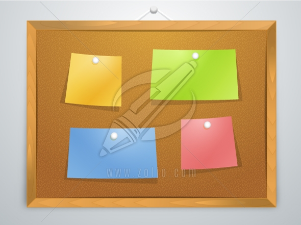 Pinboard vector illustration
