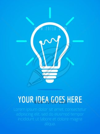 Light bulb icon design with text vector illustration