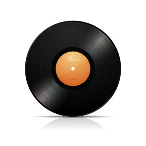 LP vinyl record vector illustration isolated on white