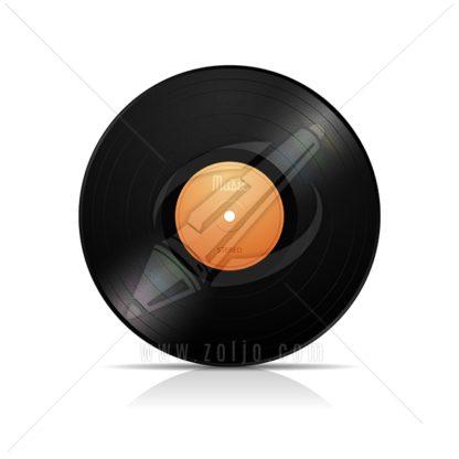 LP vinyl record vector illustration isolated on white