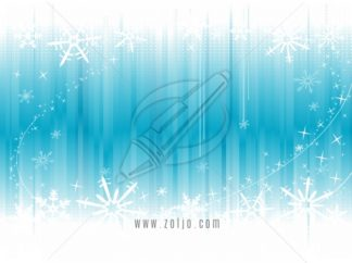 Abstract Ice Background With Snowflakes vector illustration