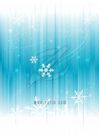 Abstract Ice Background With Snowflakes