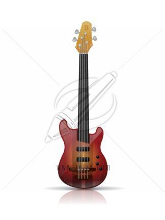 Electric bass guitar vector illustration