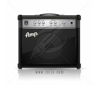 Guitar amplifier vector illustration