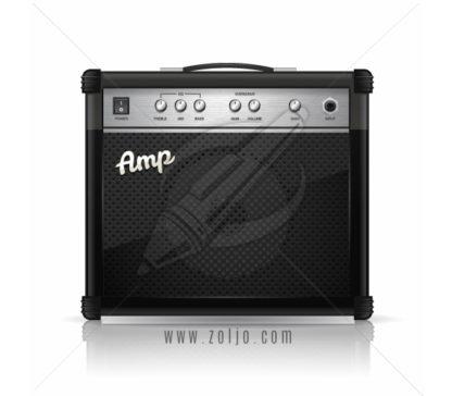 Guitar amplifier vector illustration