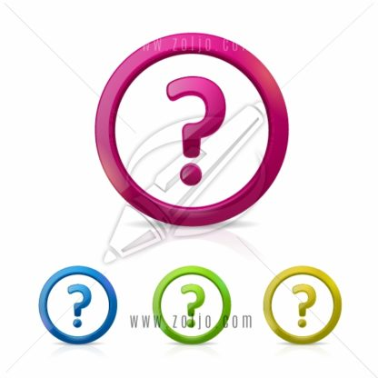 Question mark sign in different colors vector illustration