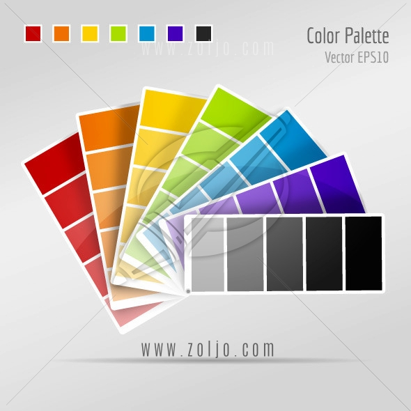 Color palette paint strips vector illustration