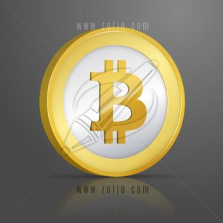 Bitcoin coin vector illustration