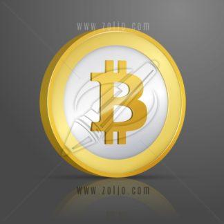 Bitcoin coin vector illustration