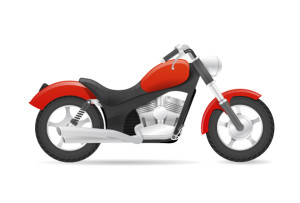 Cruiser motorbike realistic vector illustration