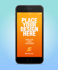 Free Iphone 6 Vector Mockup Template