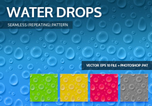Water Drops Seamless Background