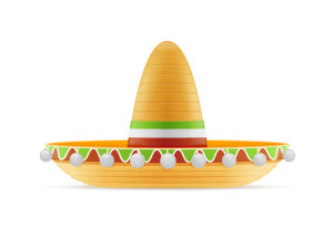 Mexican sombrero hat vector illustration