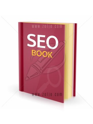 Search engine optimization, SEO book vector illustration isolated on white