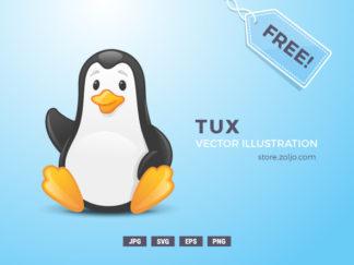 Linux Tux Penguin Free Vector Illustration