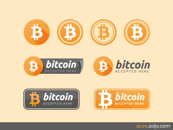 bitcoin badges accepted here signs